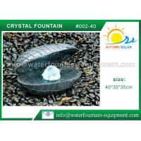 China Shell Shape Outdoor Garden Water Fountains ,  Durable Granite Water Fountain wholesale