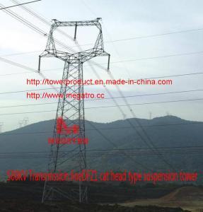 China megatro 500KV Transmission lineDFZ1 cat head type suspension tower wholesale