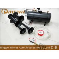 China 3 Liter Tank 12v Portable Air Compressor 150psi With 4 Trumpet Air Horn wholesale