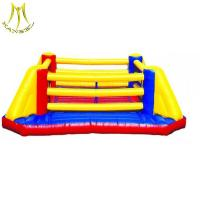 China Hansel pvc inflatable fance indoor soccer walls for sale bounce house water slide wholesale