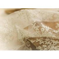 China Delicate 130CM Floral Embroidered Nylon Lace Fabric For Underwear Nightwear wholesale
