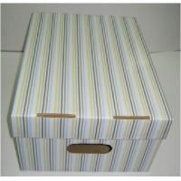 China White Grey Die Cut Handle Corrugated Cardboard Packaging Boxes For Shoes wholesale