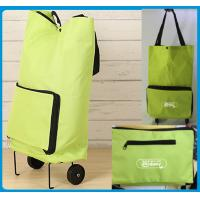 China Lightweight Foldable Shopping Trolley Bag with handles and Plastic wheels - Low Price For Promotional Marketing wholesale