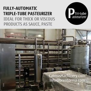 China 5000L/H Fully-automatic Triple-Tube Sterilization Machine Tubular Pasteurizer on sale