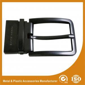 China Gunmetal Reversible Oversized Belt Buckles Polishing Surface Treatment wholesale