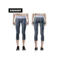 China Sublimated Sport Compression Clothing Elastane 3 / 4 Length Workout Leggings wholesale