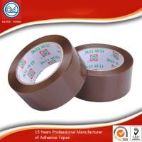 China Yellowish Water Based Acrylic Adhesive BOPP Packaging Tape for Office / Workshop wholesale