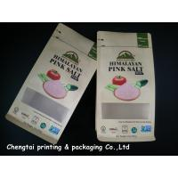 China Himalayan Salt Paper Pouch Packaging Kraft Paper Pouch With Zip Lock / Block Bottom wholesale