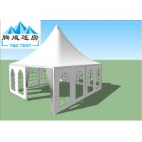 China UV Resistant Transparent White Waterproof Hop-Dip Galvanized Steel Aluminum Wedding Canopy For Party on sale