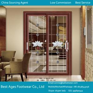 double glass pictures aluminum window and door