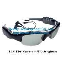 China 1.3M pixel DVR Camera Sunglasses with MP3 , China camera sunglasses supplier wholesale