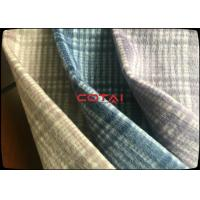 China Factory Supply Classical 50% Plaid Checks Double Faced Wool Coating Fabric Tartan + Plain wholesale