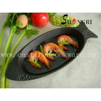 China cast iron fish shape griddle&grill pan wholesale