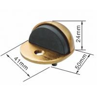 China Ellipse Zamak Half Round Door Stopper Floor Mounted Door Stop And Holder wholesale