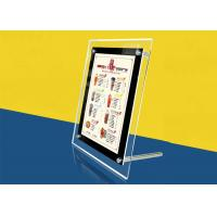 Quality Table Stand Ultra Thin Lightbox Menu Display , A4 Size Acrylic Illuminated Menu for sale