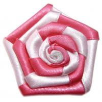 China 100% Polyester DIY Satin Ribbon Flowers for Baby Girl