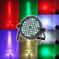 China Cool White 54pcs*3W RGBW Plastic Material LED Par Can Lights 1 year Warranty wholesale