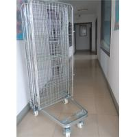 China 2 Way / 4 Way Enter Metal Storage Cages Roll Container Silver Colored wholesale