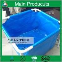 China Hot Sale Customized 250L - 5000L Flexible Collapsible PVC Steel Frame Fish Farm Tank wholesale