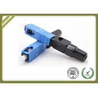 China 3.0mm Fiber Optic Accessories SC / UPC FTTH Quick Connect Fiber Optic Connectors wholesale