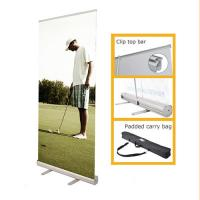 China Portable Retractable Stand Up Banners , Pull Up Retractable Display Stands wholesale