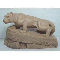 China Acrylic Epoxy Resin Crafts Mascot of Lion Standing on Rock Garden Sculptures Statues wholesale