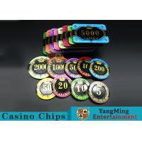 Difficult To Distort Authentic Casino Poker Chips , Crystal Dice Poker Chips for sale