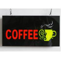 Buy cheap 23X43cm Flashing  LED Coffee Sign With Four Display Modes  Window Shop Signage from wholesalers