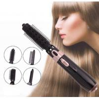 China 4 In 1 Multi-functional Hot Air Brush Negative Ionic Hair Straightener And Curler Brush on sale