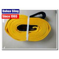 China Polyester Tow Truck Straps Without Hooks , Car Recovery Straps Flexible wholesale