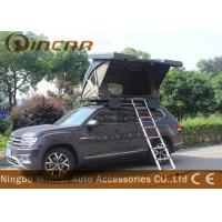 Quality Black Hard Shell Roof Top Tent Hardtop / Vehicle Pop Up Tents With One Side Open for sale