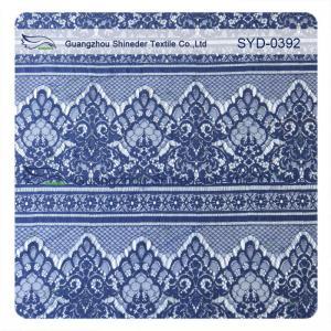 China Easy Cleaning Navy Nylon Garment Lace Fabric Scalloped Lace Eyelash Fabric wholesale