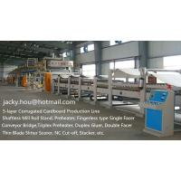 Quality used 5-ply Corrugated Cardboard Production Line, 5-ply Corrugation Line, 5-ply Corrugated Carton Plant for sale