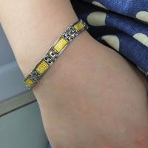 China 2015 Hot Sale Stainless Steel Bracelet, Fashion Negative Ion Bracelet wholesale