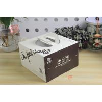 China Printing Colorful Square Cake Packaging Box / Container With Die Cutting Handle wholesale