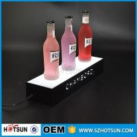 China factory direct sale clear display holder stand, laser cutting thick acrylic customized led base wholesale