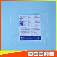 China Reclosable Plastic Ziplock Pill Bags Self Seal , Clear Resealable Poly Bags wholesale