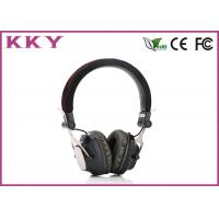 China Custom Bluetooth 3.0 Headphones , Black Bluetooth Headset For Android Phone wholesale