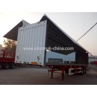 China Waterproof Wingspan Van Type Semi Box Trailer With Double Circuit Brake System wholesale