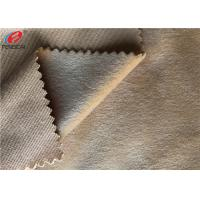 China 100% Polyester Super Soft Minky Plush Fabric DTY / FDY Velboa Knitted Fabric on sale