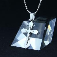 China Fashion Top Trendy Stainless Steel Cross Necklace Pendant LPC267 wholesale