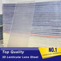 China 20 LPI lenticular sheet with flip lenticular effect for large size lenticular advertisment indoor and outdoor Printing wholesale