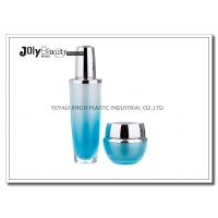 China Gradient Blue Empty Lotion Containers Capacity 30 Ml Bottle Height 130 Mm wholesale