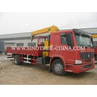 China SQ5SK3Q Truck Mounted Crane , 5 TON Telescoping Boom Crane For Diesel 4×2 Cargo Truck wholesale