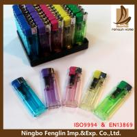 China Personalized Transparent Flame Refillable Cigarette Lighter For Mens wholesale