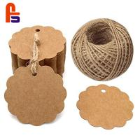 Quality Kraft Paper  Natural Color Appearance With High Convenience Cardboard Gift Tags for sale