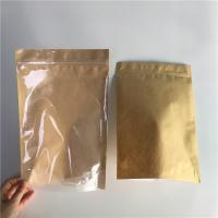 China Food Grade Kraft Paper Stand Up Pouch Packaging Pull Tab With Good Sealability Zipper wholesale