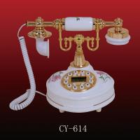 China Antique ceramic telephone (CY-614), ployresin resin corded and cordless antique telephone christmas gift OEM wholesale