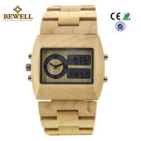 China Unique Gift Maple Wooden Watches For Men , Square Wooden Wrist Watch wholesale