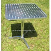 China Commercial 700MM Square Outdoor Table With Stainless Steel / Aluminum wholesale